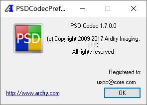 Ardfry PSD Codec 1.7.0.0 (PSD缩略图软件附注册机)