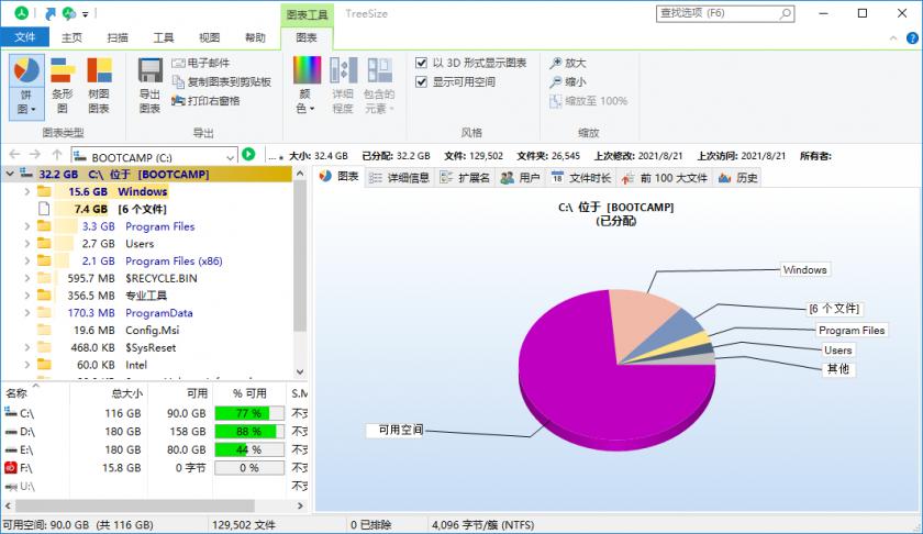 磁盘空间管理软件 TreeSize Professional v8.1.4 零售便携版